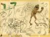 Kröten, Schlange, Gerippe/Toad, snake, skeleton, 1944
