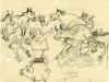 Bauer Lorenz schimpft mit seinen Tieren/Farmer Lorenz is scolding his animals, 1946