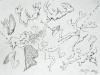 Amrum Drawing 3: Spring Dance, 2016
