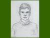 Self portrait, 1953, pencil