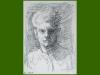 Self portrait, 1953, black chalk