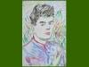 Self portrait, 1953, water-colour