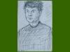 Self portrait,1954, black chalk