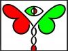 Logo der Fakultät für Biologie der Universität Bielefeld, Farbig, ca. 1998
