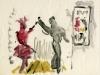Plakatentwurf für ein spanisches Tänzerpaar, 1953